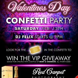 The Reef Night Club Valentines Confetti Party