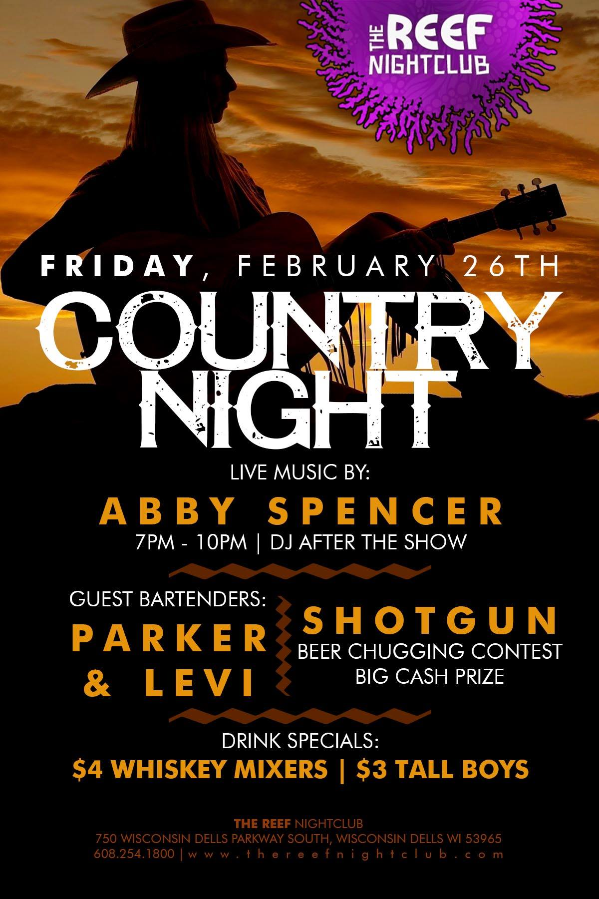 Country Night At The Reef Night Club