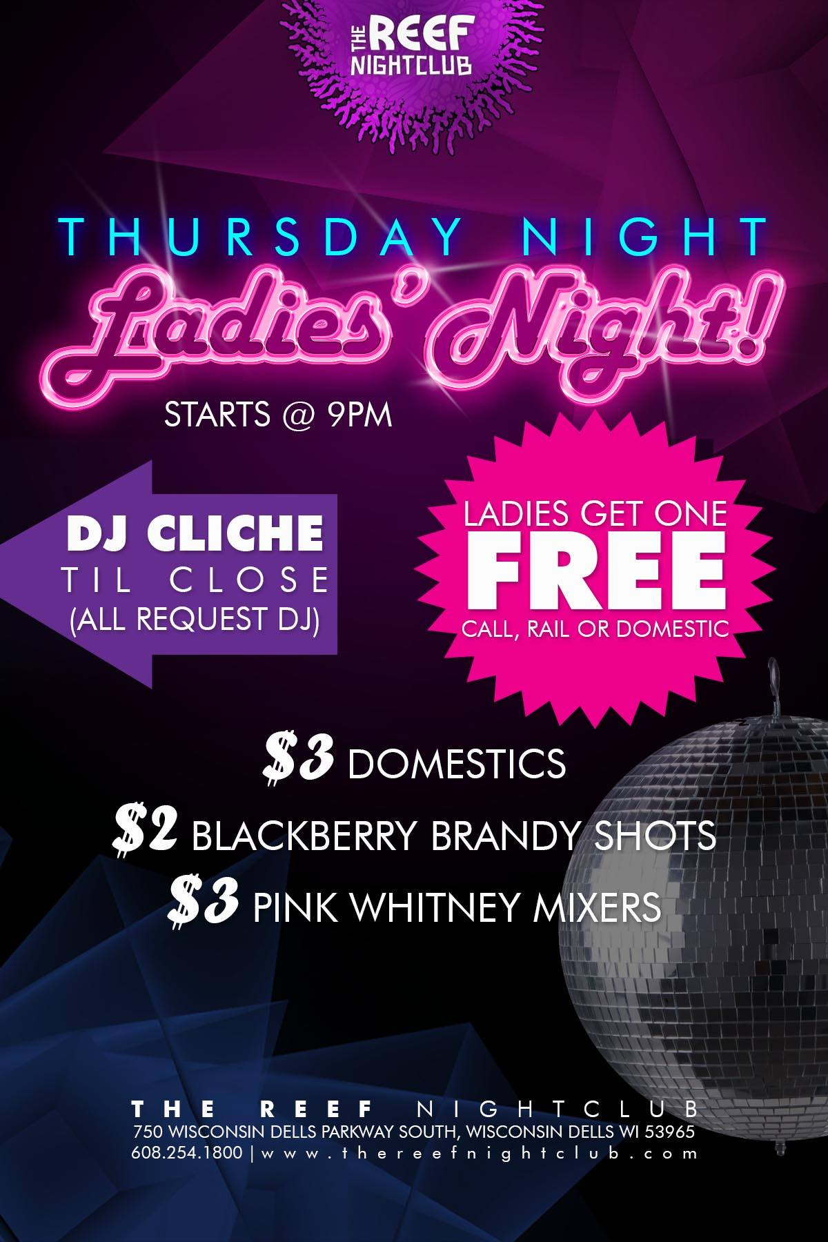 Ladies Night At The Reef Night Club Wisconsin Dells