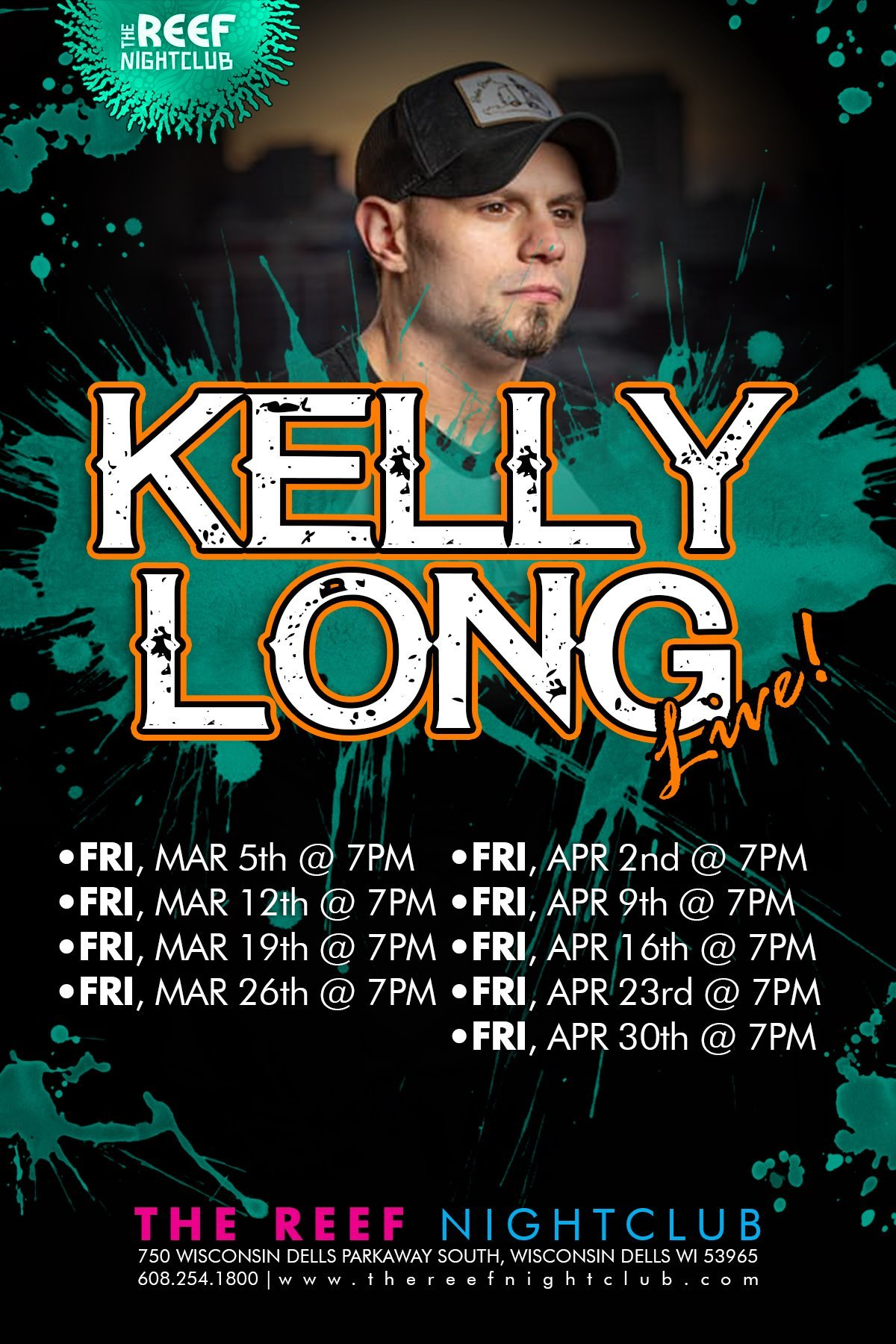 Kelly Long Live At The Reef Night Club Wisconsin Dells