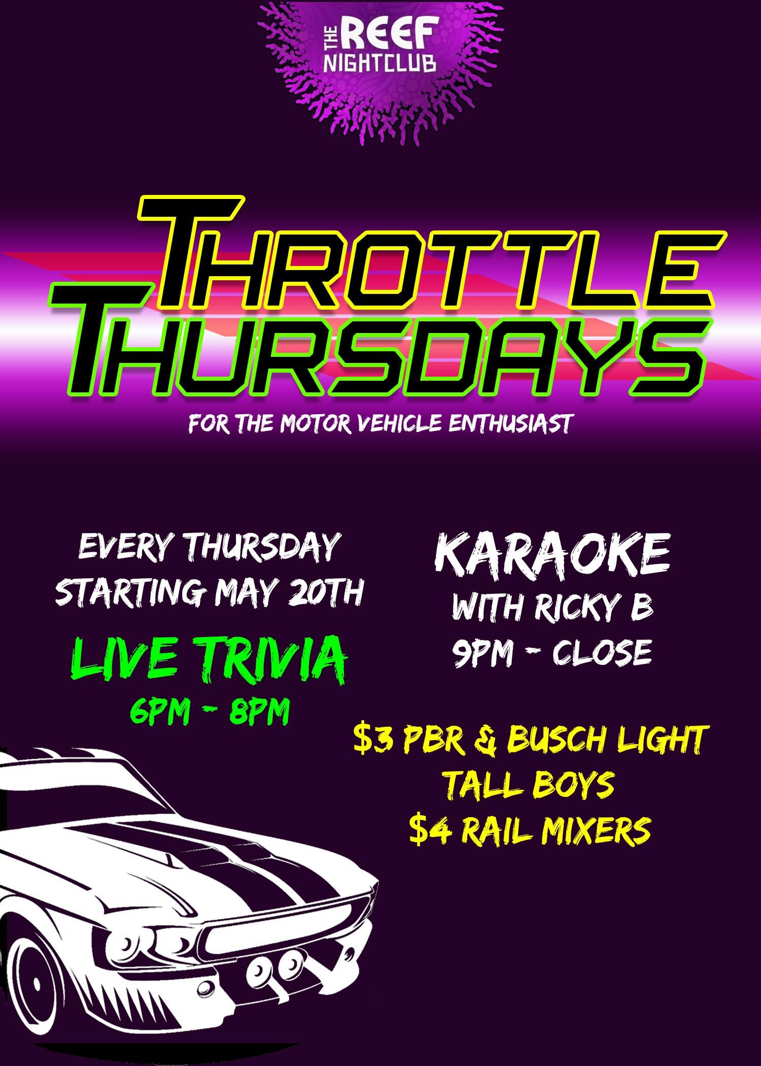 The Reef Night Club Throttle Thursday