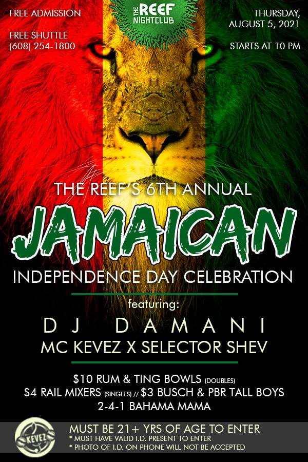 The Reef Night Club Jamaican Independence Day Celebration