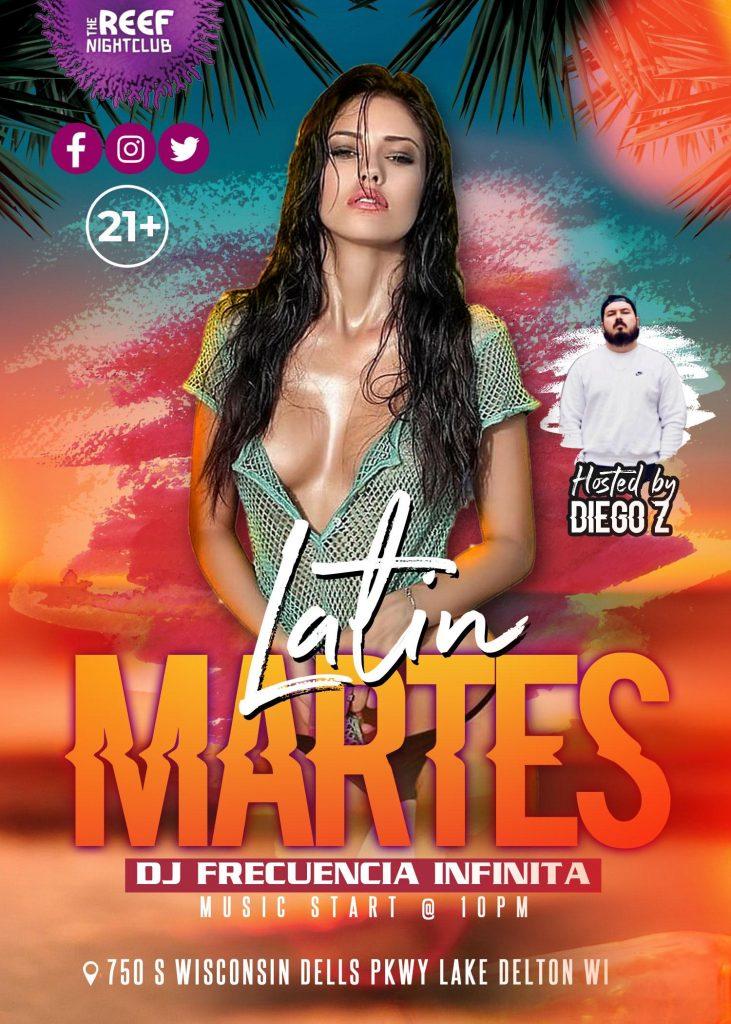 The Reef Night Club Tuesday Night Latin Night